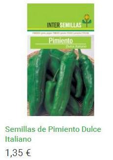 Semillas de Pimiento Verde Dulce Italiano