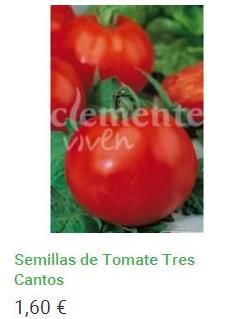 Semillas de Tomate Tres Cantos