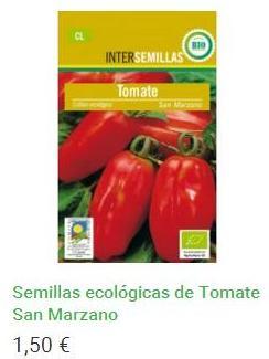 Semillas ecológicas de Tomate San Marzano