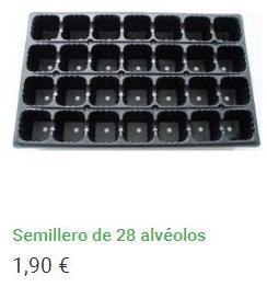 Semillero 28 cavidades
